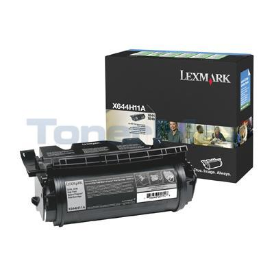 LEXMARK X644E RP PRINT CARTRIDGE BLACK 21K